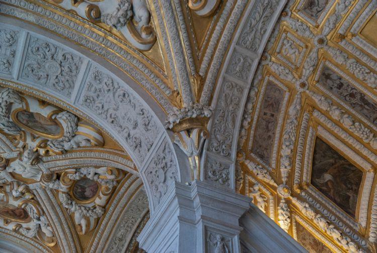 Venise - Plafond en or du Palais des Doges