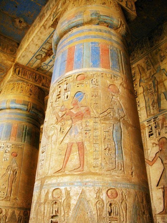 Temple de Médinet Habou à Louxor